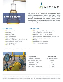 Specialty chemicals application: blend solvents