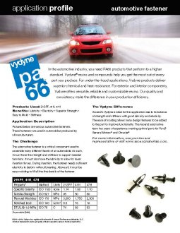 Auto under-the-hood application: fasteners